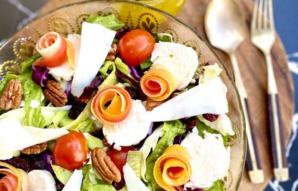 סלט ירקות וגבינות שמח