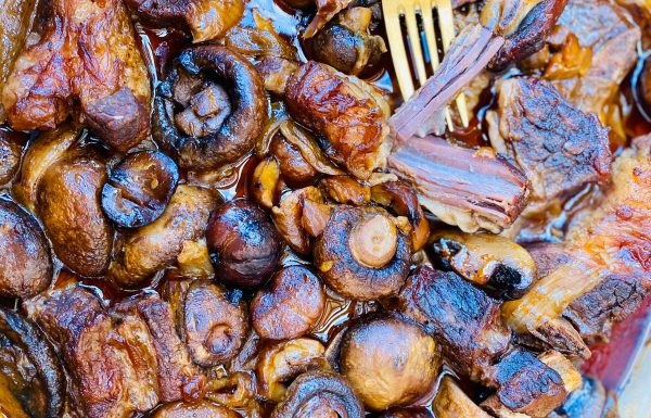 אסאדו בפטריות ובצלים