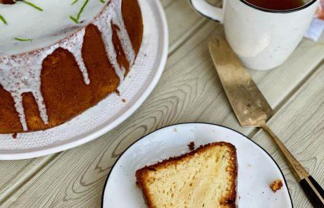 עוגת לימון עם קוקוס ושקדים