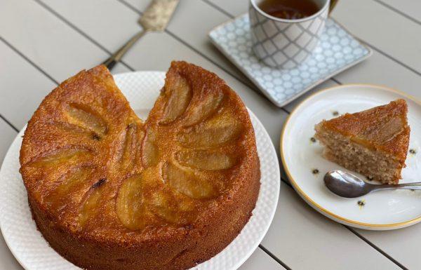 עוגת סולת תפוחים