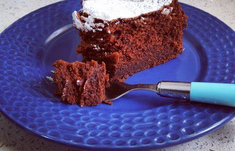 עוגת שוקולד קרמל