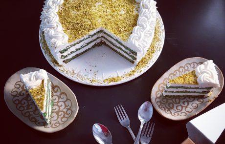 עוגת גבינה פיסטוק