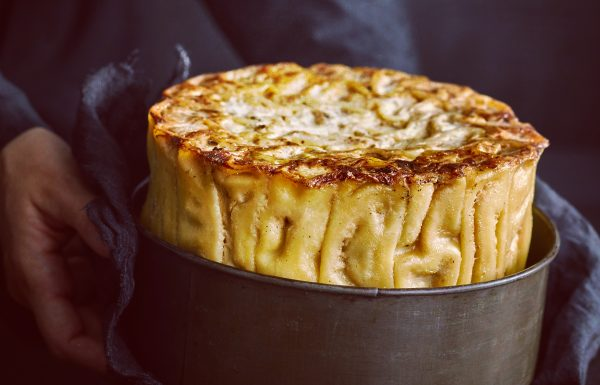 """""""עוגת"""" קנלוני עם פטריות וגבינות"""