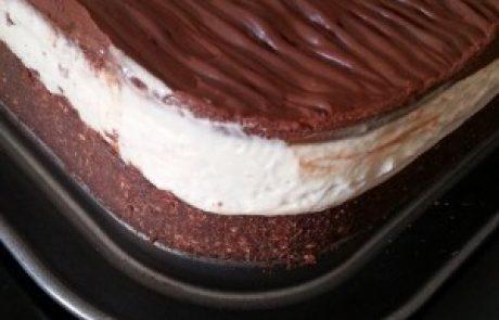 עוגת כדורי שוקולד בטעם וניל נוגט