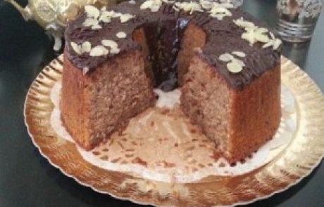 עוגת אגוזי לוז ושוקולד תפוז