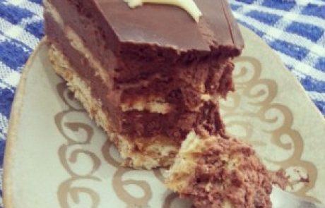 עוגת ביסקוויטים בטעם שוקו-נוגט